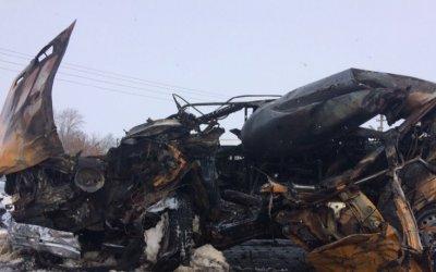 Водитель ВАЗа сгорел в машине после ДТП в Тамбовской области