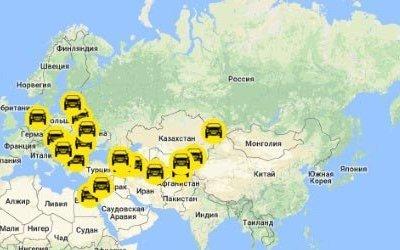 Чехия, Украина и Узбекистан - главные страны для российского автомобильного экспорта