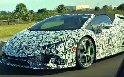 Надороге замечен новый Lamborghini Huracán