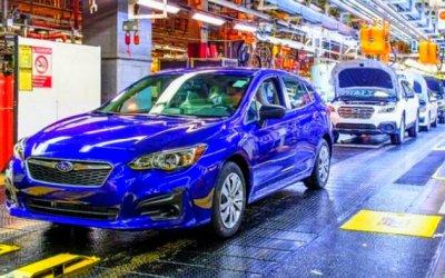 Остановлен головной завод Subaru
