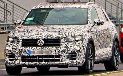 Volkswagen опубликовал фото «заряженного» кроссовера T-Roc R