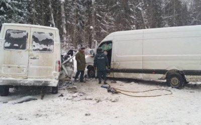 В ДТП с двумя фургонами в Кировской области погиб человек