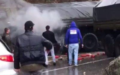 Российский военный погиб в ДТП в Абхазии