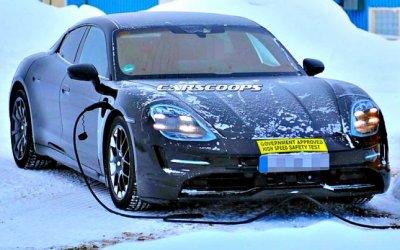 Porsche Taycan проходит испытания заПолярным кругом