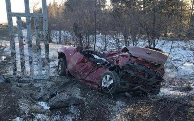 В Ростовской области иномарка врезалась в рекламный щит – погибли двое