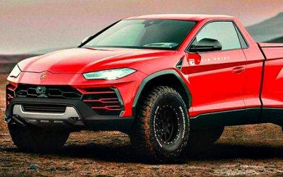 Винтернете появилось изображение пикапа Lamborghini Urus