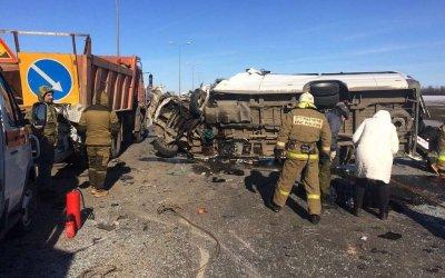 Шесть человек погибли в ДТП с микроавтобусом в Ростовской области