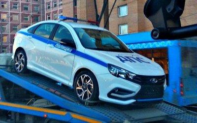 ВМоскве заметили полицейскую Lada Vesta Sport