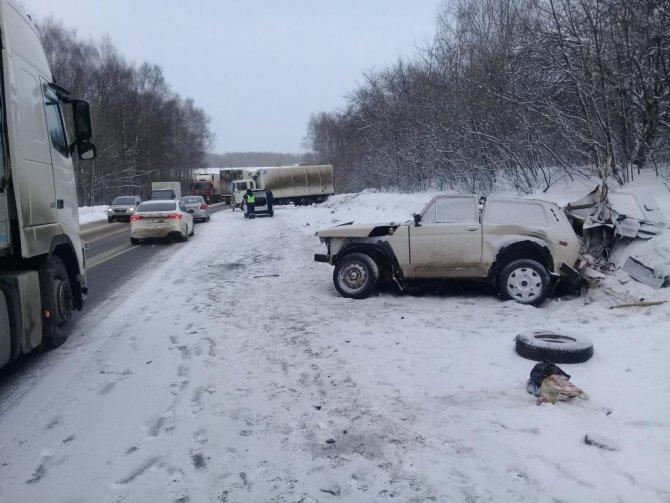 Два человека погибли в лобовом ДТП в Лысковском районе (4)