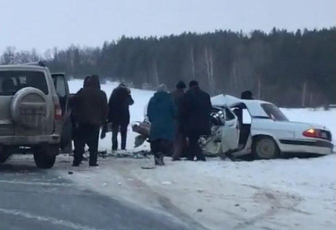 Женщина погибла в ДТП в Ульяновской области