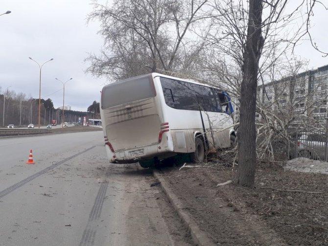 В Екатеринбурге водитель автобуса погиб, врезавшись в дерево (2)