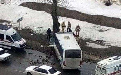 Маршрутка с пассажирами врезалась в дерево в Белгородской обрасти