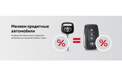 Обменяйте кредитный автомобиль на новый в Тойота Центр Волгоградский