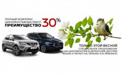 Подготовьте свой автомобиль к весне с преимуществом 30%!