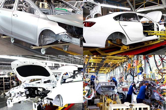 Kia Cerato на заводе %22Автотор%22 в Калининграде