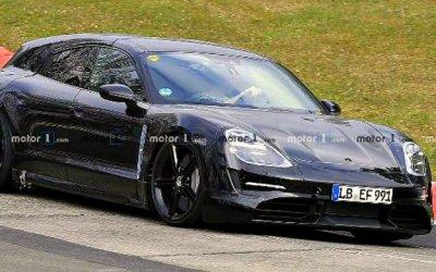 Porsche тестирует электрический универсал Taycan Cross Turismo