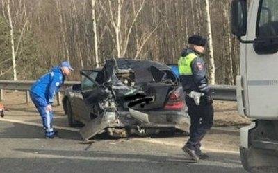 Водитель «Мерседеса» пострадал в ДТП на трассе «Кола»