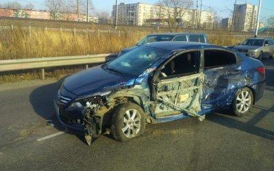 Женщина и двое детей пострадали в ДТП в Хабаровске