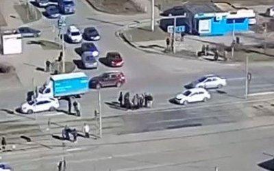 В Магнитогорске иномарка сбила пожилую женщину