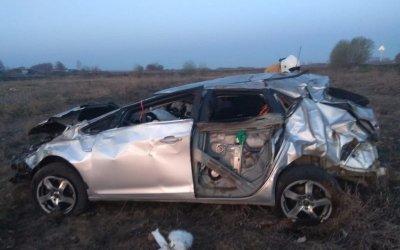 Три женщины погибли в опрокинувшемся автомобиле в Татарстане