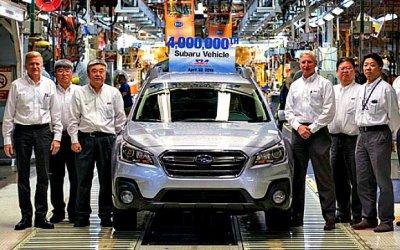 Фирма Subaru отпраздновала юбилей