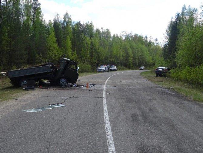 В ДТП в Коношском районе Архангельской области погибли два человека (2)