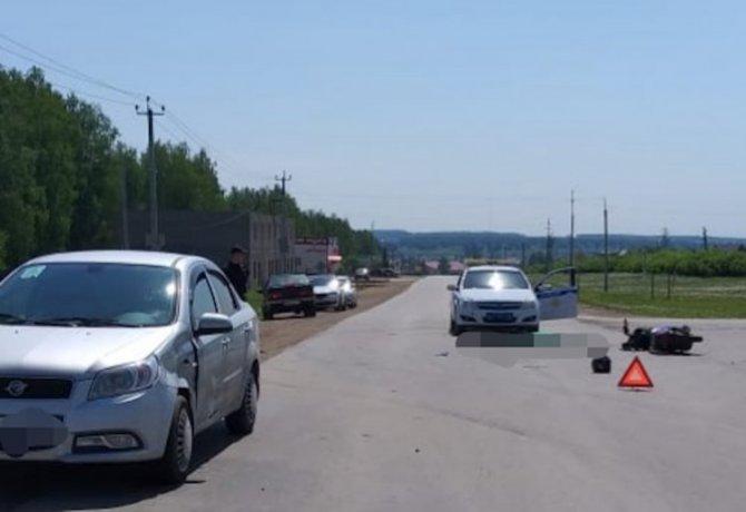 В Башкирии в ДТП погиб пожилой скутерист