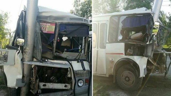 В Уфе в ДТП с автобусом пострадали пять человек