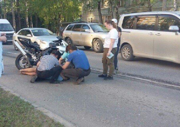 В Сыктывкаре в ДТП пострадал скутерист