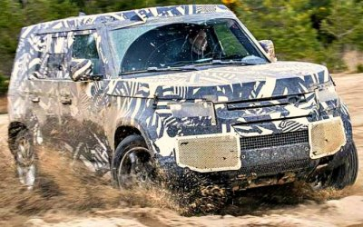 Новый Land Rover Defender поехал вАфрику