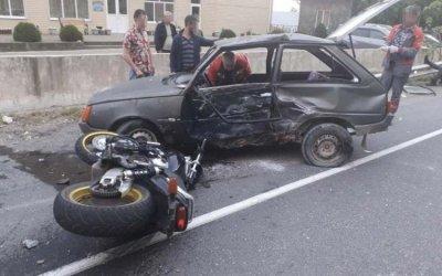 На Кубани в ДТП с мотоциклом пострадали два человека