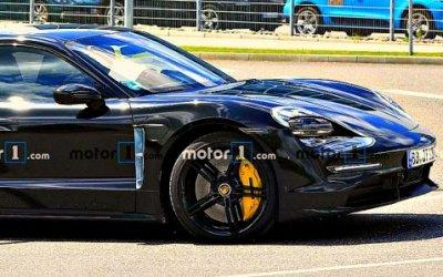 Рассекречена внешность Porsche Taycan