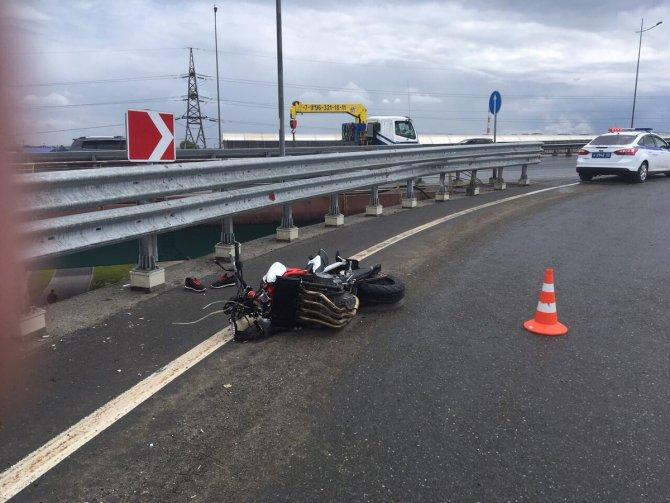 В Тюмени мотоциклист погиб, упав с путепровода (1)