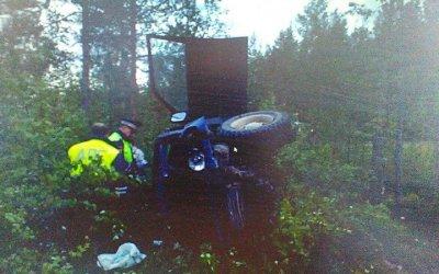 В Карелии опрокинулся внедорожник – водитель погиб