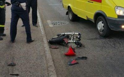 В Череповце мотоциклист попал в ДТП