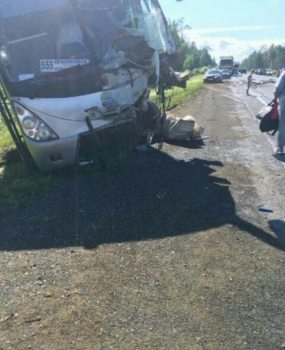 Женщина погибла в ДТП с автобусом в Красноярском крае (1)