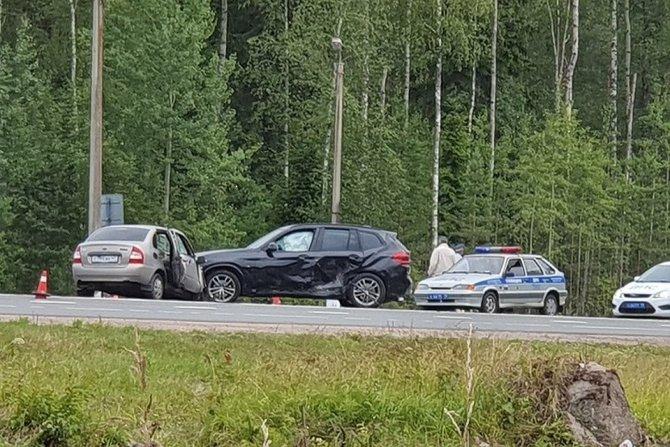 Четыре человека пострадали в ДТП на «Скандинавии»