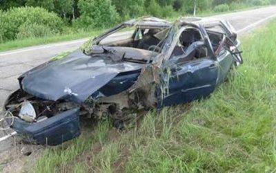 В Демидовском районе погиб водитель опрокинувшейся машины