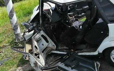 Молодой водитель пострадал в ДТП под Брянском