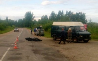 Мотоциклист пострадал в ДТП под Великими Луками