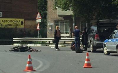 Мотоциклист пострадал в ДТП в центре Рязани