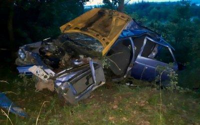 Во Владимирской области при опрокидывании машины в кювет погиб человек