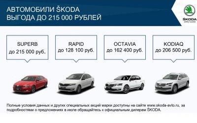 Выгодное лето в ŠKODA АВТОРУСЬ БУТОВО