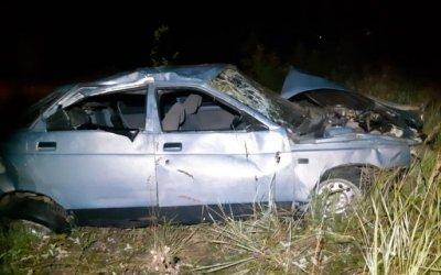 Три человека пострадали в опрокинувшейся машине в Орловской области