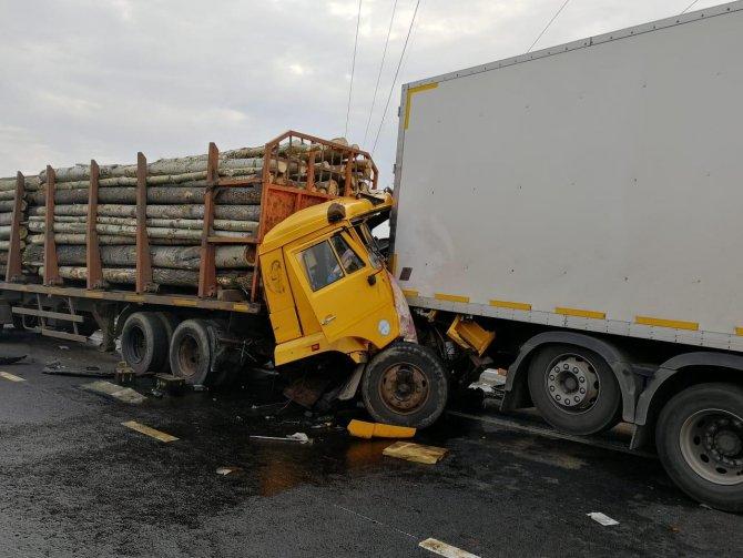 Водитель лесовоза погиб в массовом ДТП в Набережных Челнах (3)