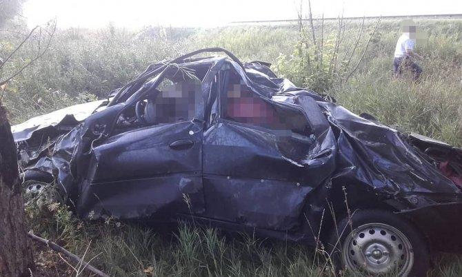 В Башкирии при опрокидывании иномарки погиб водитель