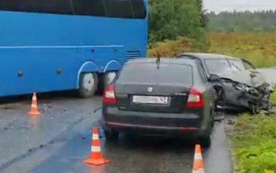 В ДТП с автобусом под Кингисеппом пострадали женщина и ребенок