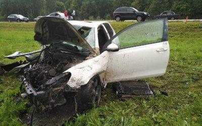 Пассажир иномарки погиб в ДТП в Тульской области