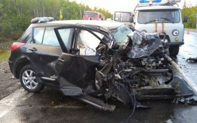 В ДТП на трассе «Кола» под Апатитами погибла женщина