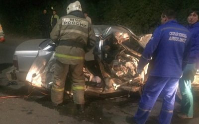 Два человека погибли в ночном ДТП в Рязани